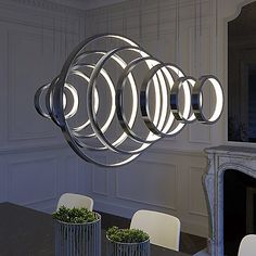 Hoops LED Linear Suspension by ET2 Lighting at Lumens.com