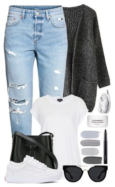 """""""#55"""" by oneandonlyfashion ❤ liked on Polyvore featuring H&M, Topshop, 3.1 Phillip Lim, Vans, Quay, Urbanears and MAC Cosmetics"""