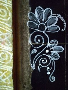 Free Hand Rangoli Design, Rangoli Border Designs, Mehndi Design Images, Mehndi Designs, Rangoli Borders, Simple Rangoli, Hand Art, Bridal Jewellery, Indian Jewelry