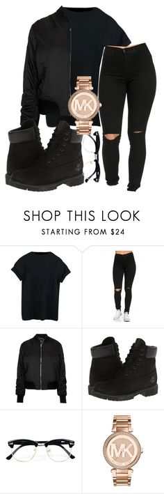 """""""IG kingrabia"""" by rabiamiah ❤ liked on Polyvore featuring Topshop, Timberland, Topman and Michael Kors"""