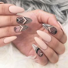24 Ideas with Long Nails for Different Shapes ★ Beautiful Almond Shape Long Nails Picture 3 ★ See more: http://glaminati.com/long-nails/ #longnails #naildesign