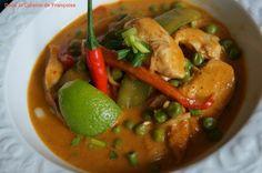 Poulet Curry Thaï et Lait de Coco / Curry Thai Chicken and Coconut Milk