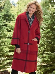 Pendleton Long Engineered Plaid Coat