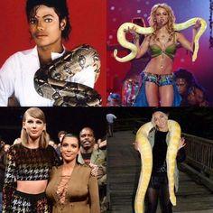 Encuentra la relación entre los 4... #snake #taylorswift #omg #funny #freshmagrd #freshrevista