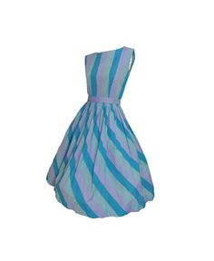 Vintage 1950s Day Dress Belted Sleeveless Summer Sun Dress