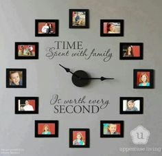 picture frame clock more decorating idea wall clock living room photo