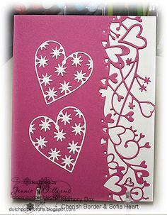 Memory Box dies - Sofia Heart (98253), Cherish Border (98282) from the Bloomin' Paper blog