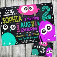invitación de cumpleaños de chicas monster, monstruo invitación, invitación…                                                                                                                                                                                 Más