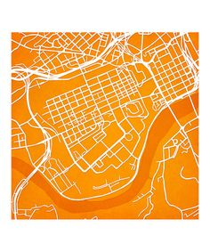 Map art print including the University of Tennessee Knoxville campus located in Knoxville, Tennessee.