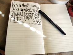 on a beautiful ripple effect - pen and paper #quote