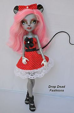 Custom-Mousecedes-King-Monster-High-Doll-Repaint-OOAK-Drop-Dead-Fashions