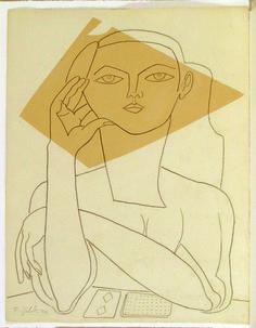 Portrait of Francoise Gilot, muse of Picasso Kunst Picasso, Art Picasso, Picasso Drawing, Painting & Drawing, Art And Illustration, Picasso Sketches, Francoise Gilot, Cubist Movement, Georges Braque