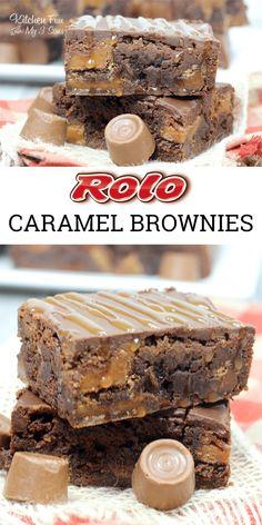 Rolo Brownies with Caramel Sauce & Actual Rolo Candy Inside. So yummy! … Rolo Brownies with Caramel Sauce & Actual Rolo Candy Inside. So yummy! Rolo Brownies, Best Brownies, Brownie Cake, Brownies With Caramel, Cupcake Brownies, Rolo Cupcakes, Rolo Cookies, Banana Cupcakes, Cheesecake Cake