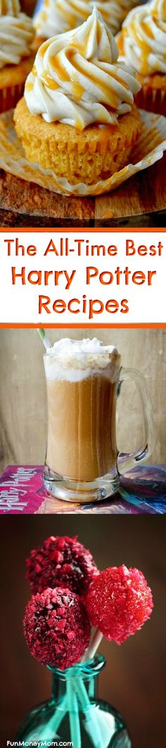 Harry Potter Party - Any Harry Potter Party needs Harry Potter food, right? If your kids birthday party has a Harry Potter theme, you'll definitely want these Harry Potter recipes. From Butterbeer to chocolate frogs, all the Hogwarts foods are here. #HarryPotterParty #HarryPotterrecipes #HarryPotter