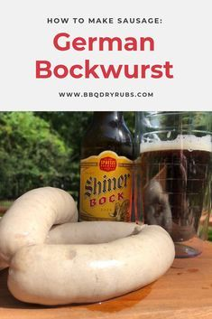 Bockwurst: The Classic White German Sausage The easy recipe for how to make homemade sausage. This german bockwurst sausage is lean and easy to make! Homemade Sausage Recipes, Meat Recipes, Gourmet Recipes, Cooking Recipes, Oven Recipes, Vegetarian Cooking, Easy Cooking, Recipies, Sausages