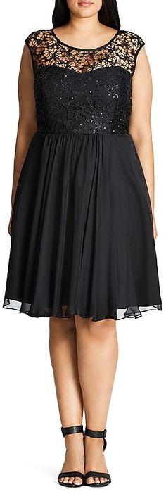 Plus Size Sparkle Love Dress