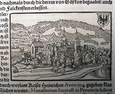 1549 Johannes Stumpf - AARAU Canton Argau - late medieval woodcut leaf