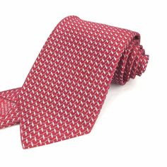 BRIONI Italy 60 Long Skinny Red White Weave Geometric Print 100% Silk Neck Tie #Brioni | Shop Menswear, Men's Clothes, Men's Apparel & Accessories at designerclothingfans.com