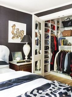 """closet layout 405394403943986204 - """"I added a really big master closet by stealing the closet from a room next to it,"""" she says. """"I had California Closets come and pimp it out for me."""" Source by mabubulle Bedroom Closet Design, Small Bedroom Designs, Master Bedroom Closet, Room Interior Design, Small Room Bedroom, Closet Designs, Small Rooms, Home Bedroom, Bedroom Ideas"""