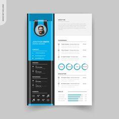 Rstech | Freepik Letterhead Template, Resume Design Template, Cv Template, Banner Template, Templates, Header Design, Resume Cv, Creative Resume, Bar Set