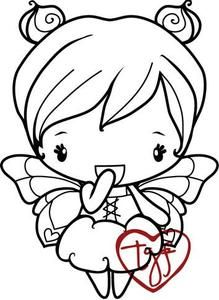 *The Greeting Farm ANYA FLUTTER Cling Rubber Stamp