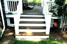 Image result for wooden front steps with landing