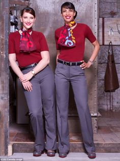 air canada flight crew uniforms | Air Canada Rouge Launches New Hipster Cabin Crew Uniforms
