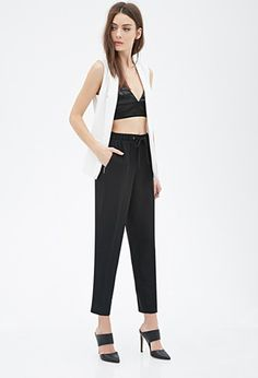 Zippered Drawstring Trousers | Forever 21 - 2000081413