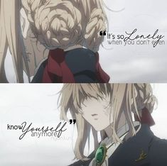 "Violet Evergarden :'( just cry in silent , than stay doun and cry more ,than close the movie, say ""fuck"" 3times and than continue watching"