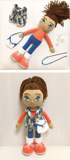 Made according to Molly Doll Crochet Pattern #crochetdolls