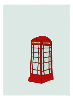 red phone booth - Nat Smith on Etsy