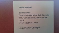 Earth Secrets Display Tags - at Monsalvat Natural Impressions Art Exhibition by Lesley Mitchell and Denise Keele-Bedford