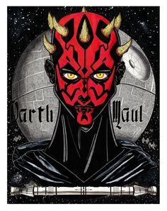 DARTH MAUL - Star Wars fanart - Illustration : Jean-Baptiste MUS