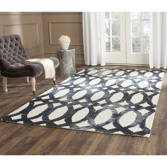 Interesting patterned rug. For living room.