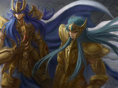 Saint Seiya - The Lost Canvas - Aquarius Degel & Scorpio Kardia