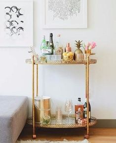 Love this adorable little bar from ❤️ Bachelor Pad Decor, Bar Cart Decor, Hanging Posters, Online Print Shop, Cafe Restaurant, New Home Gifts, Modern Prints, Decoration, Printable Wall Art