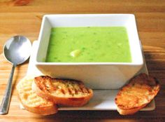Pea and potato Soup: Best served with yogurt and garlic bread
