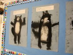 Splat the Cat likes art and so do we!  Charcoal and chalk, rub, rub, rub and we had such fun.