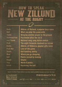 "Thought this was classic!  Can't wait til September til we take the kids to Eden Park to see some ""troy's"" being made!  Go the All Blacks!!!"