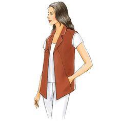 Butterick B5359 Sewing Pattern - Misses' Vest - CraftStash