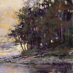Evening Shade by Barbara Jaenicke Pastel ~ 8 x 8