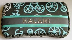 Grey and Turquoise Bicycles Baby Wipes Case for by TheSparkleBaby, $18.95