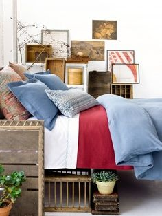 87 Best Red White Blue Cottage Decor Images On Pinterest In 2018