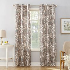 5ea38d539ad Valerie Wallace Grommet-Top Curtain Panel