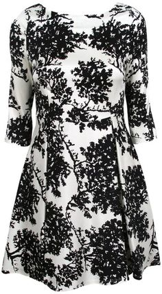 Toile Flared Dress - Lyst