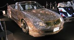 Displayed in Tokyo, this normally beautiful car has been made even prettier with the addition of 300,000 Swarovski crystals.