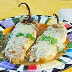 Chile Rellenos by JuanitasCocina. I do not separate and whip the eggs. I just beat them and dip the peppers- so much less trouble!