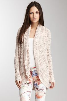 Shawl Collar Pointelle Cardi