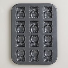 Our darling Nonstick Owl Caklet Pan is made of commercial grade steel for lasting durability, and features 12 deep impressions to make delicious owl cakelets, owl cookies, or owl anything you like! >> #WorldMarket Owl