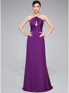 05d78c8cc3 Trumpet Mermaid V-neck Sweep Train Satin Chiffon Evening Dress With Ruffle  Beading Cheap